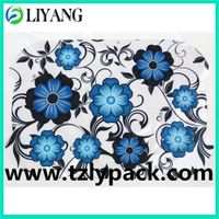 heat transfer, iml for plastic, gegorious blue flower
