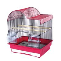 Small Bird Home, Healthy Material Double Cage with Center Divider for Bird Parrot Aviary