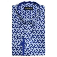 New product regular fiit point collar cotton print flower causal men shirt
