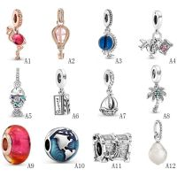 Summer Series 925 Sterling Silver Charms For Bracelets Necklace