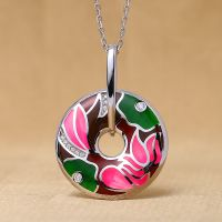 enamel pendant for women the latest fashion enamel pendant jewelry custom processing wholesale