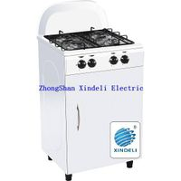 Freestanding cooker with gas bottle compartment