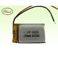 Li-ion Polymer Rechargeable Battery 3.7V 602030 300mAh thumbnail image