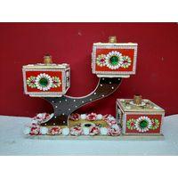 Multicolor Wooden Meenakari Dry Fruit Box, Good Gift Item