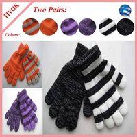 Ladies 95% Acrylic 5% Spandex Magic Glove with All Over Lurex/Stripe Lurex