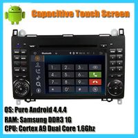 Capacitive touch screen android 4.44 dual core 1.6Ghz car radio dvd player for Mercedes Benz A B Cla thumbnail image