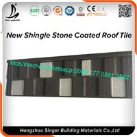 Hot sale color stone coated steel roofing sheet china supplier terracotta color stone coated metal r