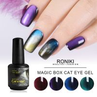 RONIKI Magic Box Cat Eye Gel Polish,Cat Eye Gel,3D Cat Eye Nail Gel Polish,Variety Cat Eye Gel