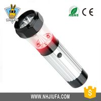 Plastic Camping lantern,emergency 2 red led +9 staw hat led light ABS flashlight,multifunctional fla