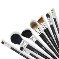 Factory Supplier Customized 8pcs High Quality Cool Black Makeup Brush set OEM Custom LOGO thumbnail image