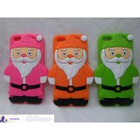 Christmas gift Santa Claus phone case for iphone 5 cartoon silicone cover thumbnail image