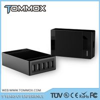Tommx 40 Watt 5 Port USB Desktop Rapid Charger. Multiport USB Travel Charger for iPhone