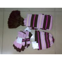 knitted scarves, hats, gloves, socks and shoes made of acrylic, wool and fancy yarn thumbnail image