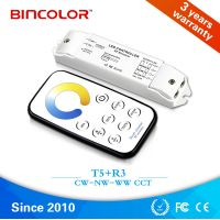 T5+R3 108W 12V; 216W 24V Mini led CCT Color Temperature dimmer for CW NW WW light