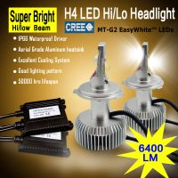 6400lm h4 auto headlight cree led car headlight