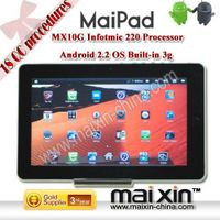 """Flytouch 4 MX10G 10.2"""" andriod 2.2 tablet pc with SIM Card Slot 3G GSM Built-in 3G"""