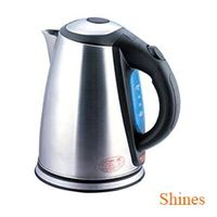 2015 hot selling model 1.8L automatical electric stainless steel kettle blue backlit water window an