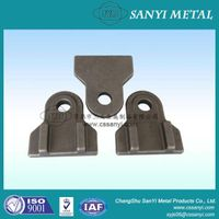 Hot forging engineering machine anchor fixing linking parts forged metal consrtuction machinery use