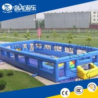 inflatable castle combo, inflatable bungee jump, inflatable football field