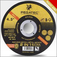 Pegatec abrasives resin bond cutting disc for metal and inox/stainless steel 4'' 4.5'' 5'' 6'' 7'' 9