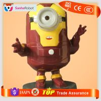 Hight 1.2M Polyresin FRP famous fiberglass minions statue for window display & Props