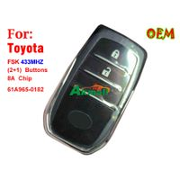 Toyota FSK 433MHZ 2+1 buttons Remote key 8A chp 61A965 0182