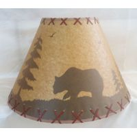 rawhide brown craft paper lamp shade