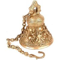 Lord Radha Krishna- Brass Hanging Bell with 21 inch chain