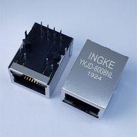 Ingke YKJD-8008NL Direct Substitute 7499010211A Through Hole 1 Port Gigabit Magnetic RJ45 Connectors