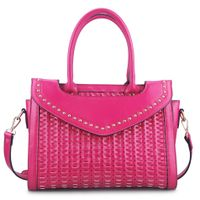 Guangzhou Supplier Designer PU Leather Handmade Woven Womens Handbag (00350)