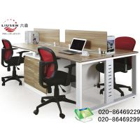 Traditional 4 People Office Workstation and Meteoric Office Desk with Screen (LS-0008)