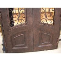Insulated wrought iron door