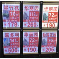 LED lightbox for real estate agent