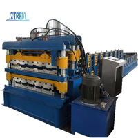 Roof Use Double Layer Corrugated Profile Steel Roofing Sheet Roll Forming Machine Roof Tile Making thumbnail image