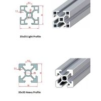 35x35 Industrial  Aluminium Profile(Heavy & Light)
