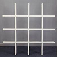 Modern white glossy wooden bookcase
