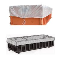 Drawstring waterproof dumpster container liner