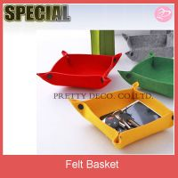 Felt fancy gift basket,handmade felt basket ,decorative baskets