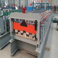 High Strength 22KW Floor Deck Roll Forming Machine With Gearbox Drive