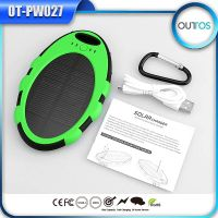 Oval solar power bank 5000mAh