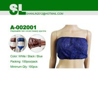 Disposable nonwoven bra for spray tanning accessories