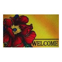 Modern floral pattern rubber door mat