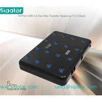 Sipolar high speed 16 port usb 3.0 hub