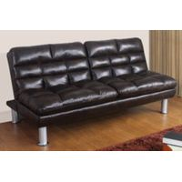 ST-628 black PU leather sofa bed