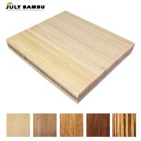 Formaldehyde free edge glued bamboo panel board natural bamboo planks