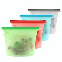 FDA Grade Reusable Ziplock Silicone Food Storage Bag