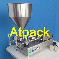 Semi-automatic two nozzles cream filling machine