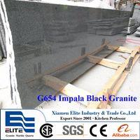 G654 Impala Black Granite Small Slabs
