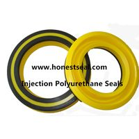 Polyurethane Rod Seals for Construction Equipment Injection PU rod Seal Double Lip Rod Seals thumbnail image