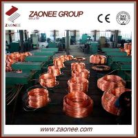 Upward continuous copper rod casting machine